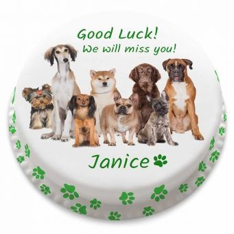 Good Luck Dogs Cake