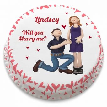Will you marry me? Cake