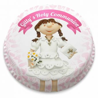 Girls Holy Communion Cake