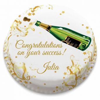 Champagne Congratulations Cake