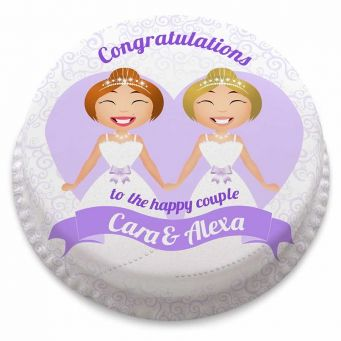 Female Civil Ceremony Cake