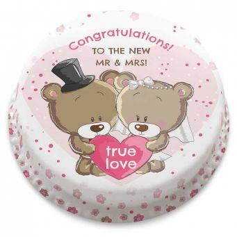 Wedding Bears Cake