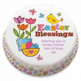Easter Blessings Chick Cake