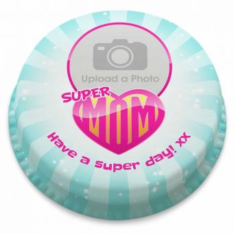 Super Mum Photo Cake