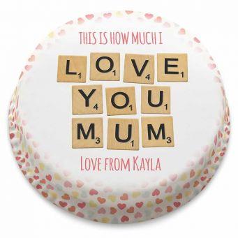 Mum Scrabble Cake