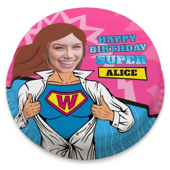 Super Woman Photo Cake