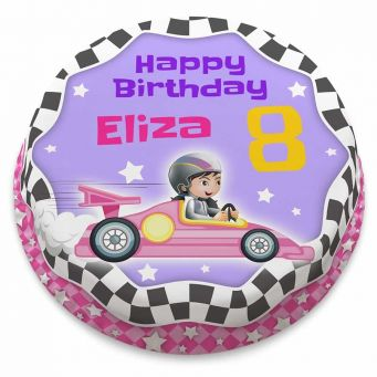 Girls Race Car Cake