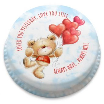 Ted Heart Balloons Cake