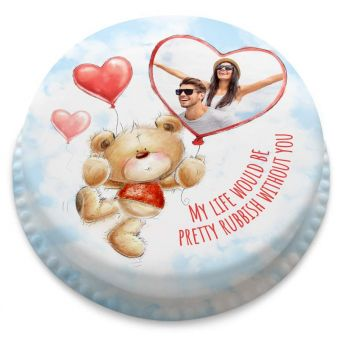 Ted Heart Photo Balloons Cake