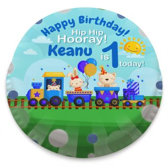 1st Birthday Train Cake
