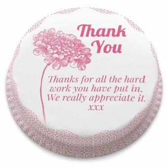 Thank You Flower Cake