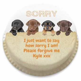 Sorry Puppies Cake
