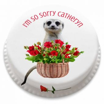 Sorry Bouquet Cake