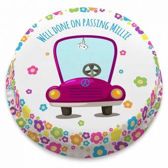 Flowery Purple Car Cake