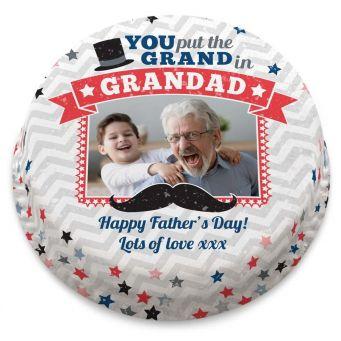 Vintage Grandad Photo Cake