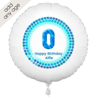 Any Age Blue Number Balloon
