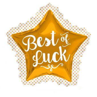 Best of Luck Star Balloon