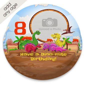Dinosaur Photo Upload Cake
