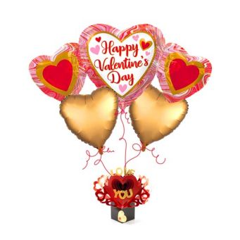 Love Rose Balloon Bouquet