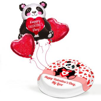 Valentine's Panda Gift Set