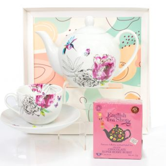 Pink Tea Pot Gift Set