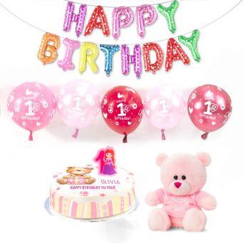 1st birthday girl party box