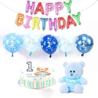 1st birthday boy party box