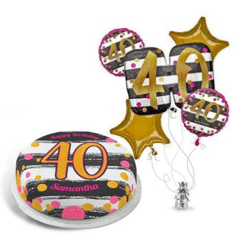 40th Black and Gold Gift Set