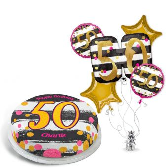 50th Black and Gold Gift Set