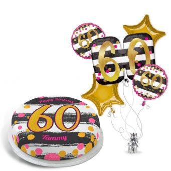 60th Black and Gold Gift Set