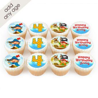 12 Pirate Number Cupcakes