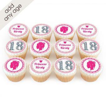 12 Royal Princess Cupcakes