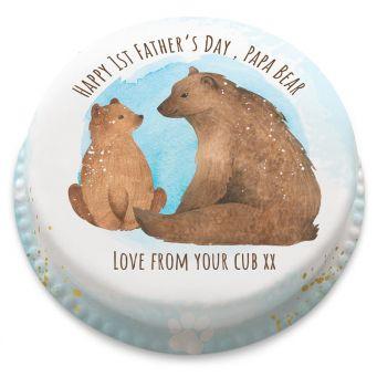 To My Papa Bear Cake