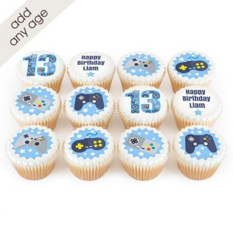 12 Controller Cupcakes
