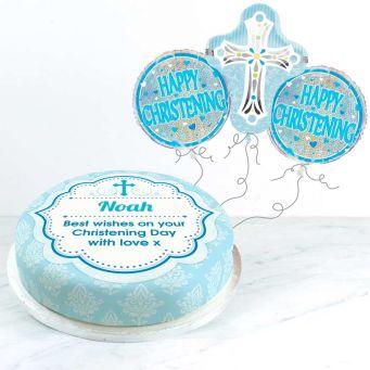 Blue Christening Gift Set