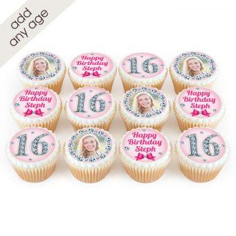 Pink Diamond Age Cupcakes
