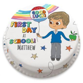 Autumnal School Boy Cake