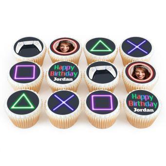 12 Game Controller Cupcakes