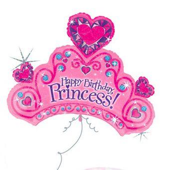 Metallic Princess Crown Balloon