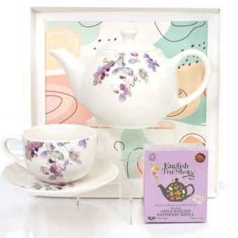 Purple Teapot Gift Set