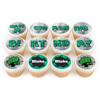 12 Hulk Photo Cupcakes