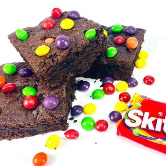 Limited Edition Skittles Brownies