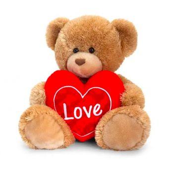 Brown Heart Bear - v