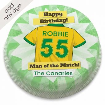 The Canaries Shirt Cakes