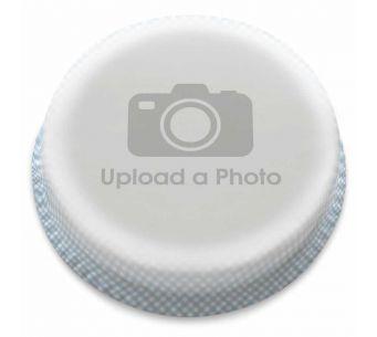 Blue Gingham Full Photo Cake