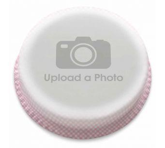 Pink Gingham Full Photo Cake