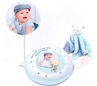 Blue Baby Teddy Gift Set