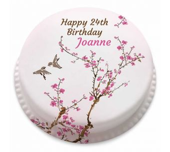 Birthday Blossoms Cake