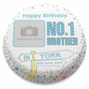 No.1 Brother Photo Cake