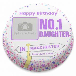 No.1 Daughter Birthday Cake